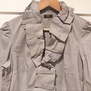 Esprit folded neckline pinstripe blouse
